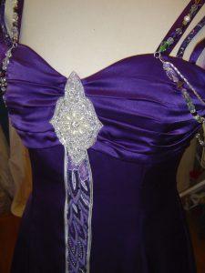 Deep Purple Wedding Gown