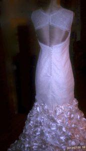 custom wedding gown by andrea zax